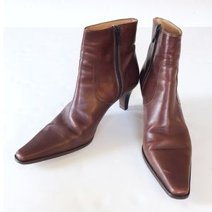Coach Leather Alexis Heeled Bootie
